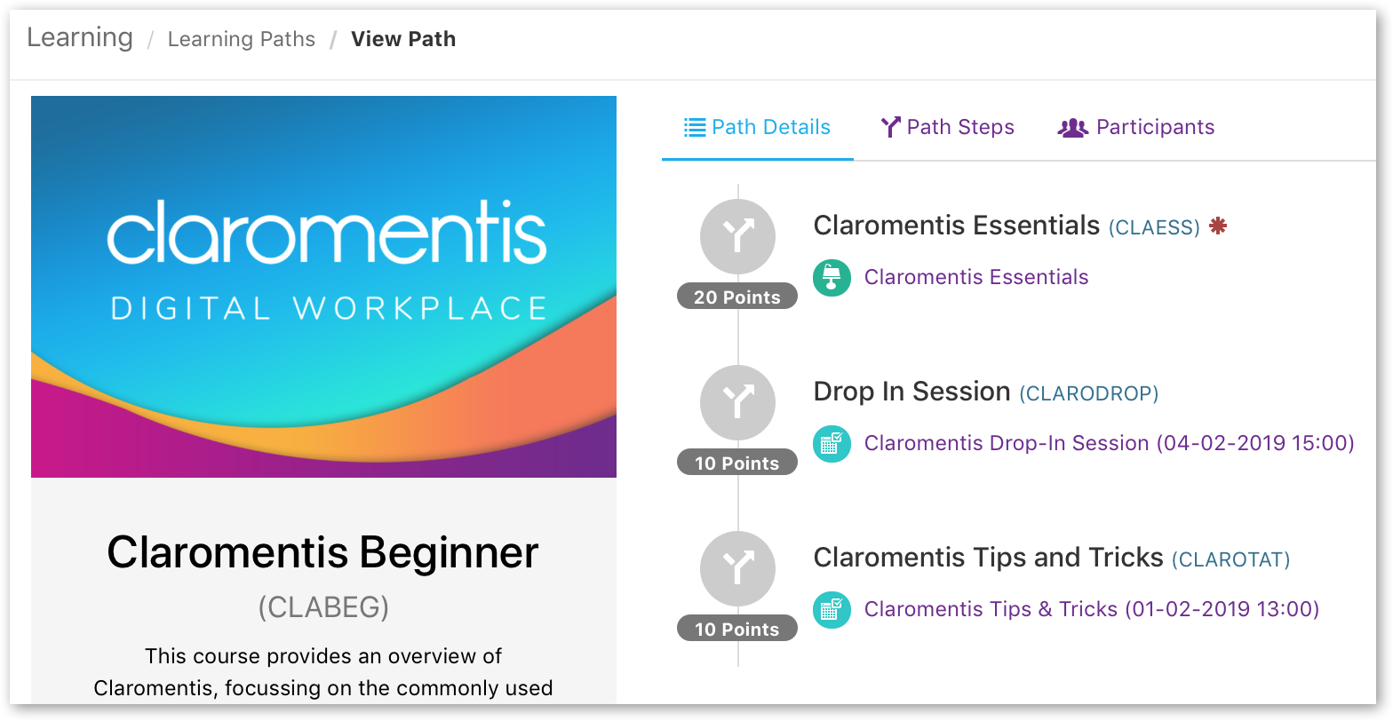 Claromentis learning path