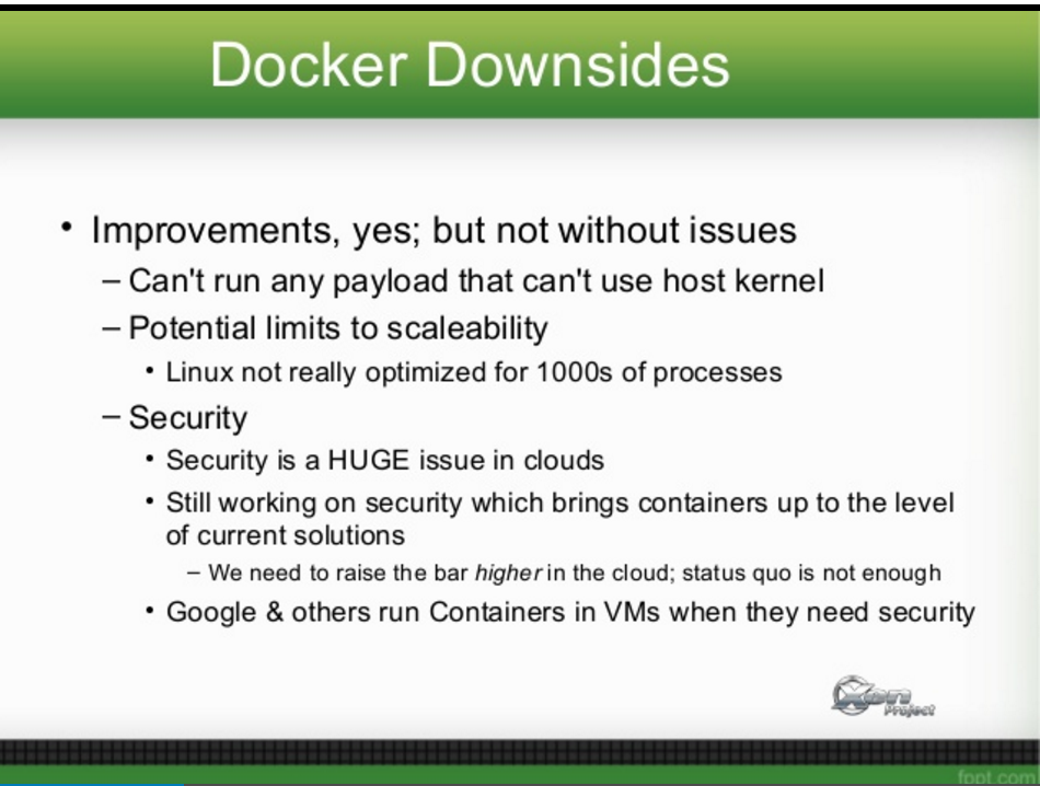 Containers in Virtual Machines - Training Wheels for Next