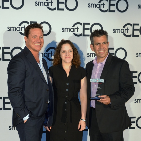 Mikah Sellers, Jennifer Parker and Lance Wain at the Smart CEO Awards 2015