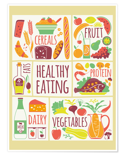 poster for eat healthy food