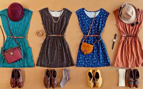photo of different dresses and shoes