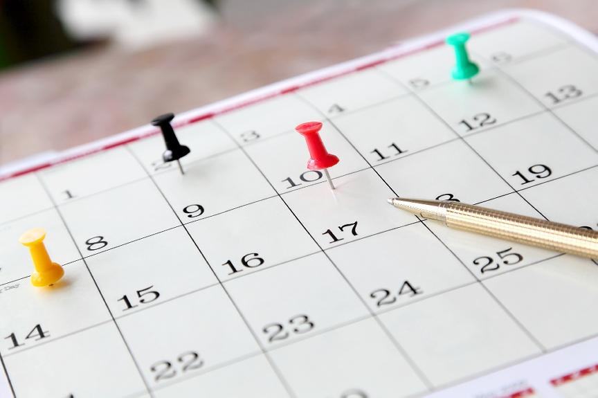 calendar events pins