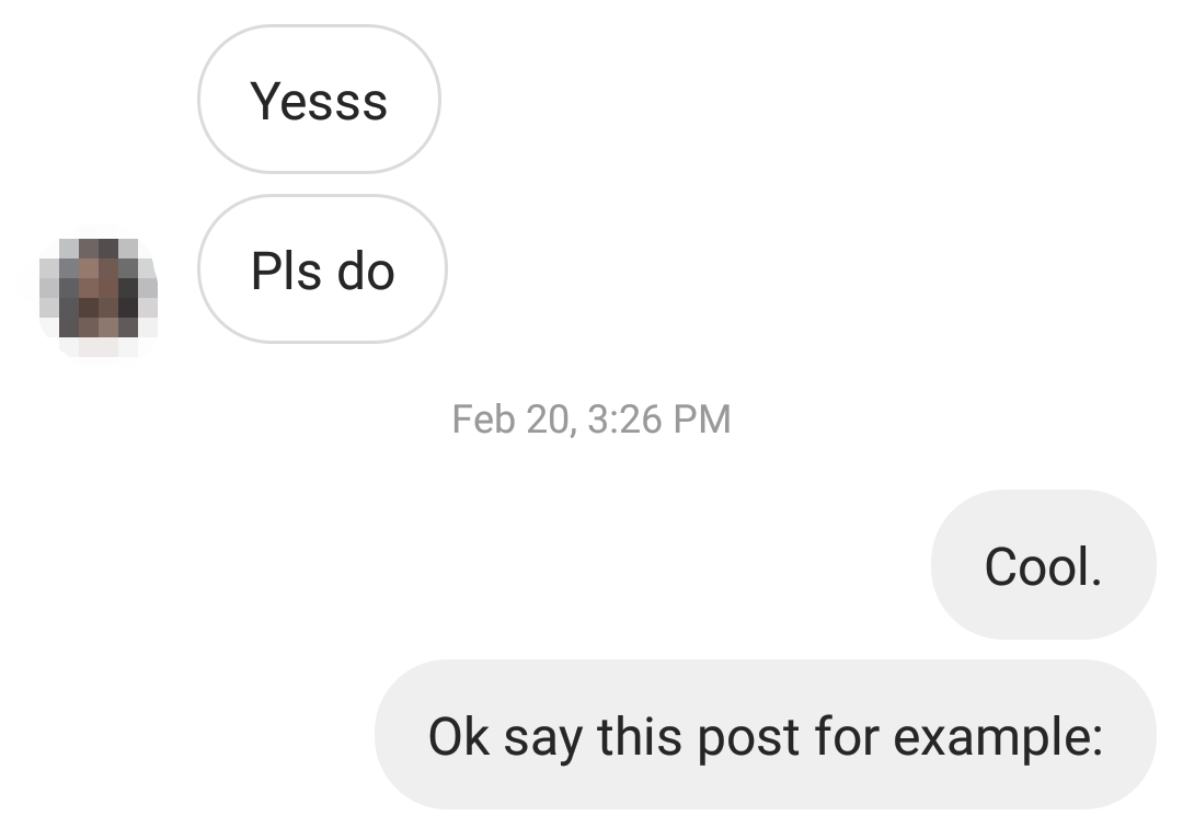 business development in instagram DMs