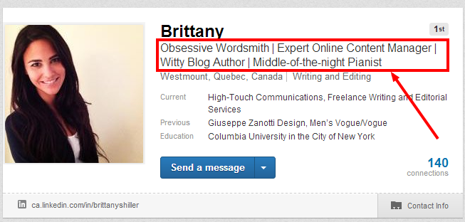 Linkedin Headline example 3