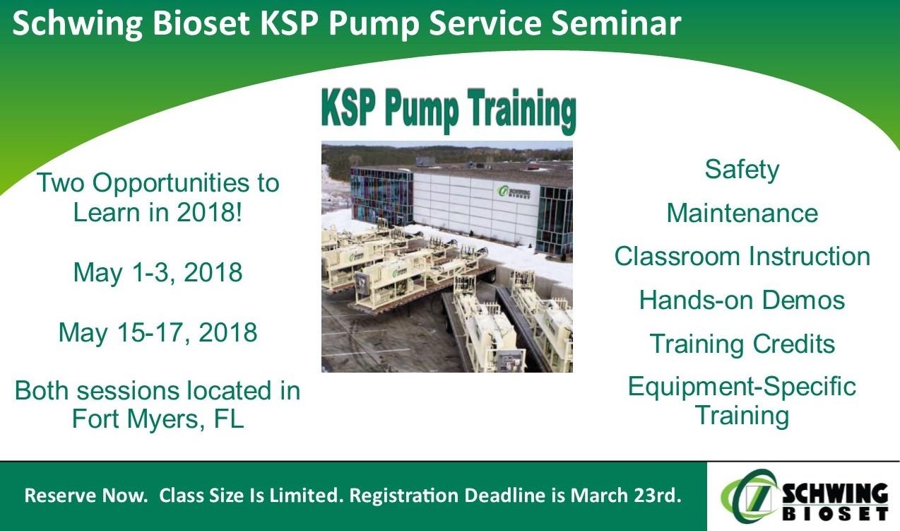 Schwing Bioset Pump Training Seminar