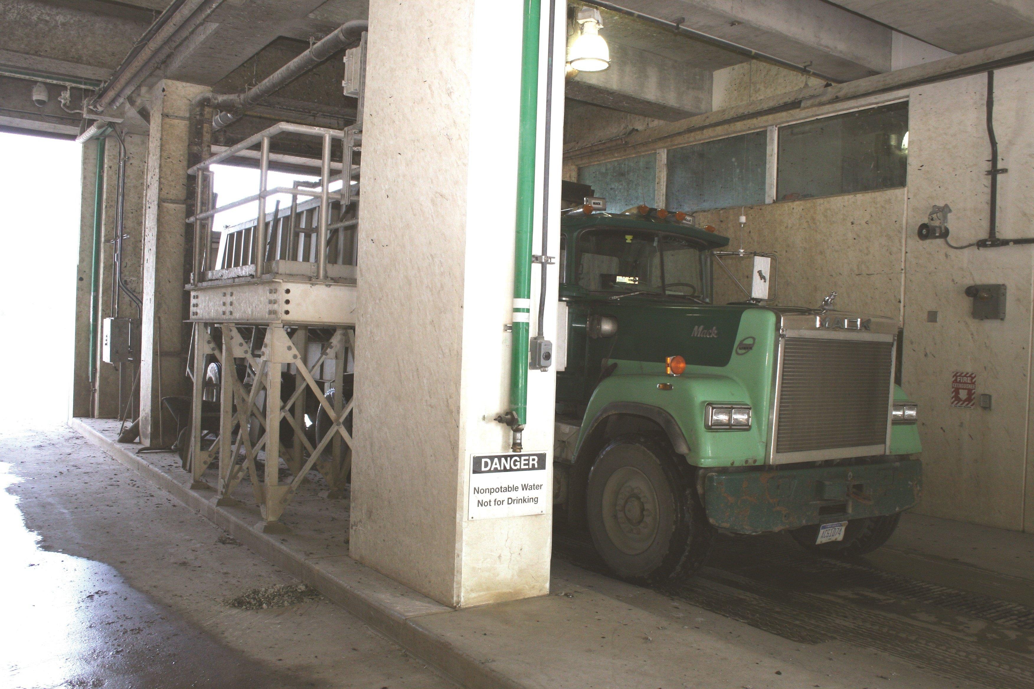 Schwing Bioset Detroit WWTP Truck Loading