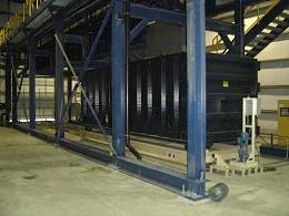 Schwing Bioset Custom Container Handling System