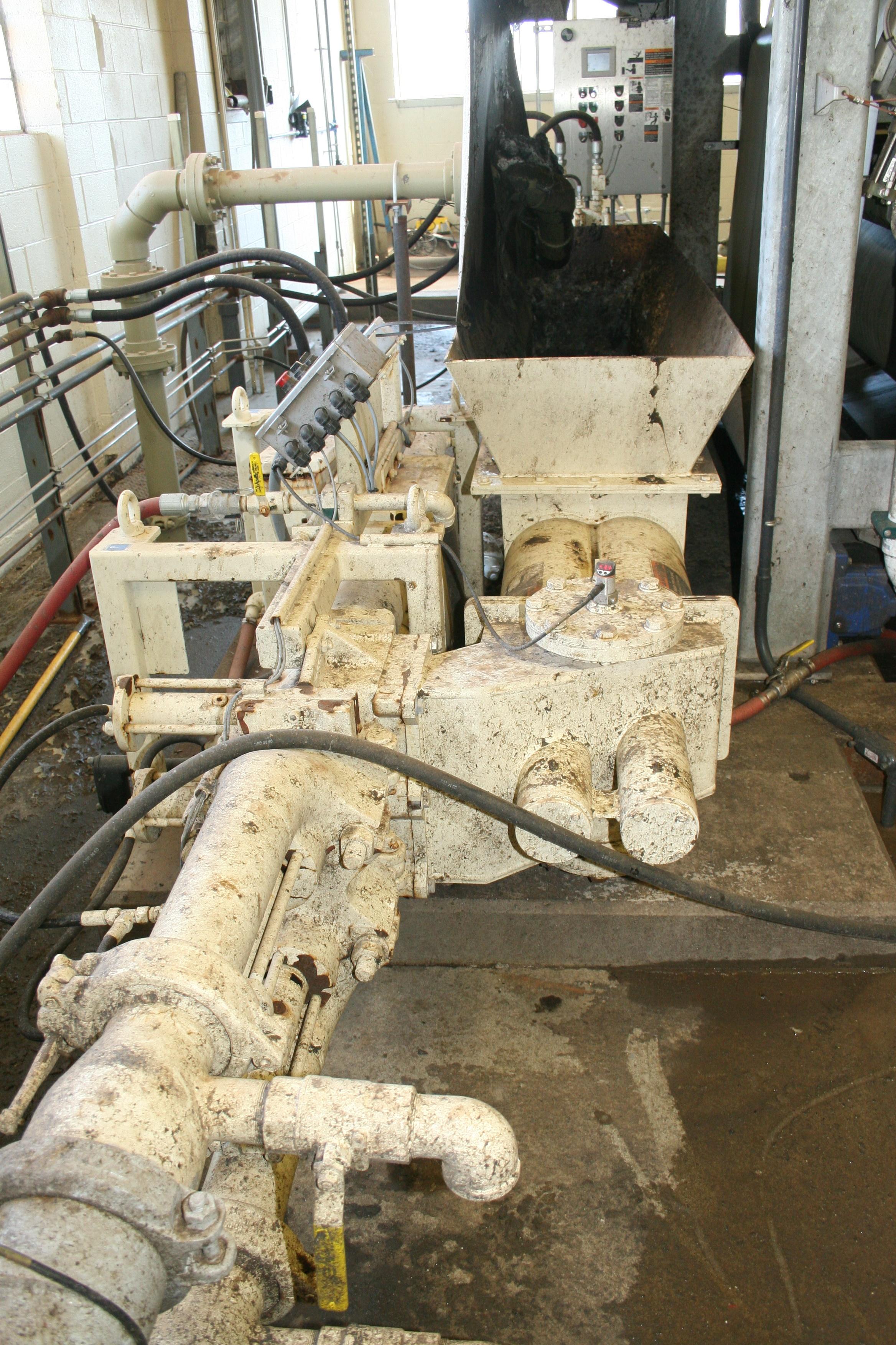 Schwing Bioset Sludge Piston Pump at WWTP