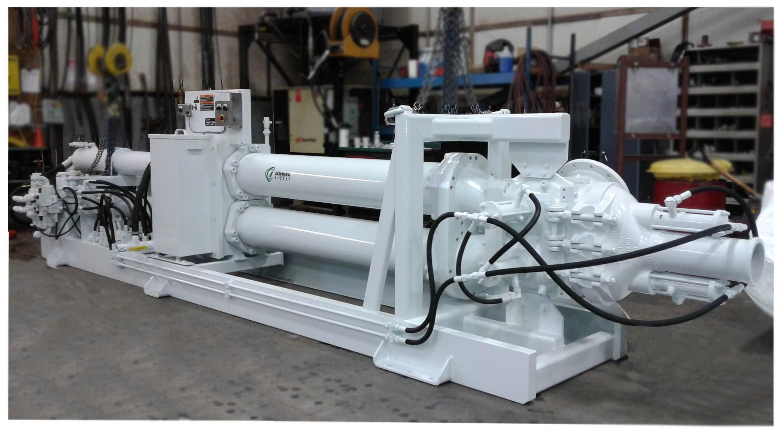 Schwing Bioset Piston Pump for Myra Falls Mine
