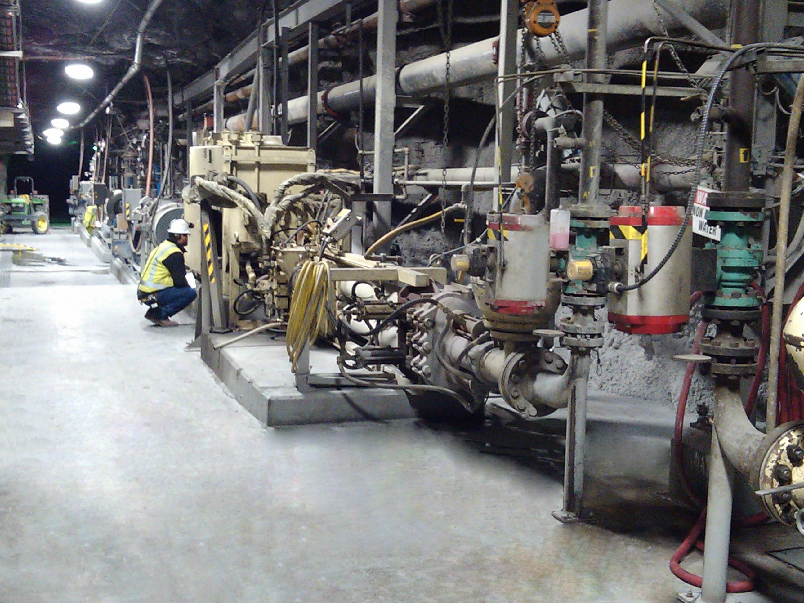 Schwing Bioset Underground Mining Pumps