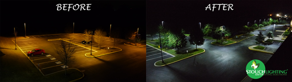 Stouch Lighting LED Retrofit Project: Parking Lot