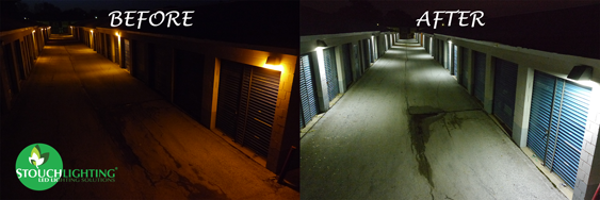 Storage facility conversion from High Pressure Sodium (HPS) to LED Lights