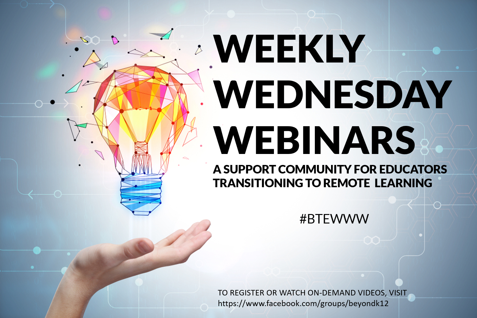 WEEKLY WEDNESDAY WEBINARS ONLINE DISTANCE LEARNING RESOURCES FOR TEACHERS