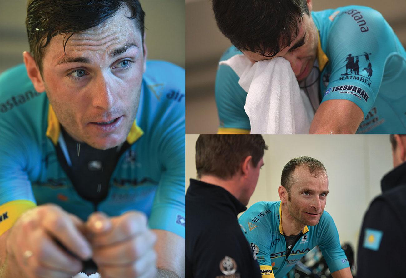 Astana Pro Team training indoors