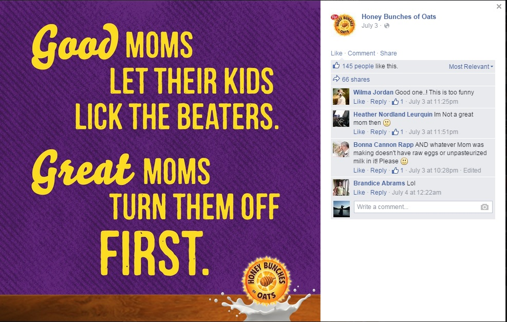 Visual Content Marketing: Honey Bunches of Oats