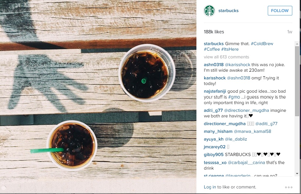 Visual Content Marketing: Starbucks