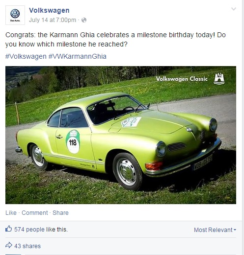 Visual Content Marketing: Volkswagen