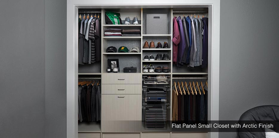 Flat Panel Small Closet With Arctic Finish   Seattle, Bellevue, Kent ...