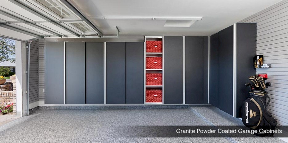 ... Granite Powder Coated Garage Shelves U0026 Cabinets ...