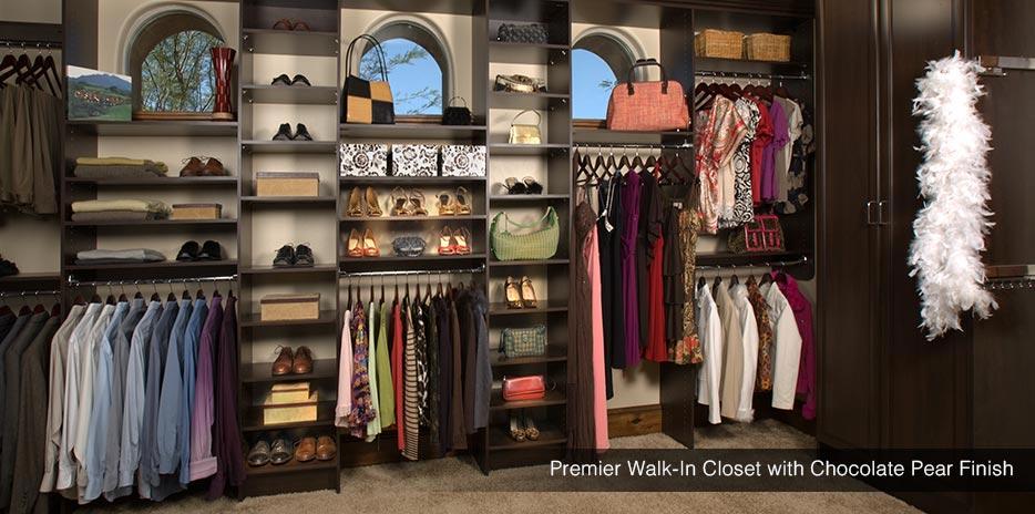 Premier Walk In Closet With Chocolate Pear Finish   Newcastle, WA ...