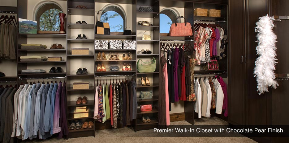 ... Premium Walk In Closet With Chocolate Pear Finish ...