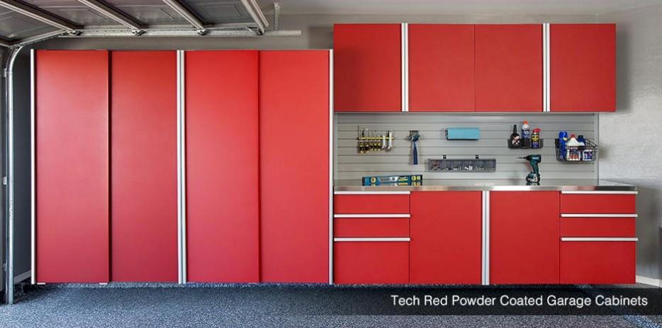 Wonderful ... Tech Red Powder Coated Garage Storage System   Seattle ...
