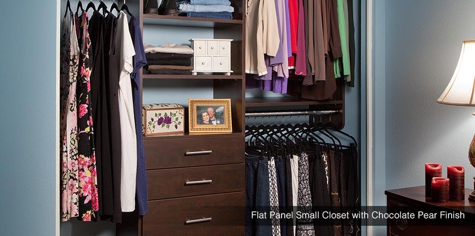 ... Flat Panel Small Closet With Chocolate Pear Finish In Seattle WA ...