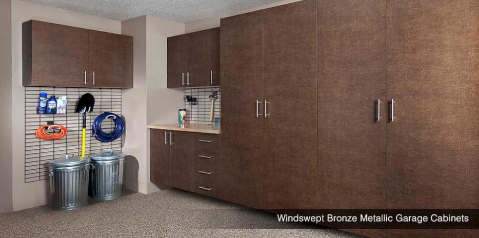 Windswept Pewter Metallic Garage Cabinets Bronze Storage