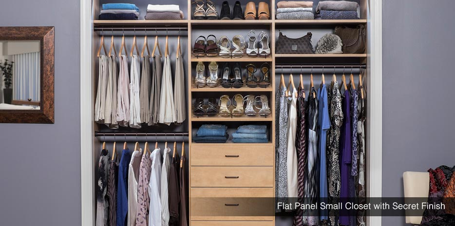 ... Flat Panel Small Bedroom Closet With Secret Finish ...