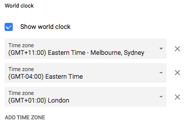 Google World Clock for Scheduling | Culture Amp