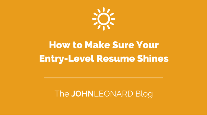 how to make an entry level resume