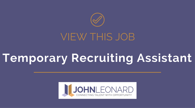 temporary recruiting assistant 25814 recruiting assistant - Recruiting Assistant
