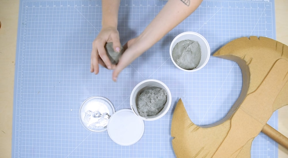 2 part epoxy clay sculpting for cosplay