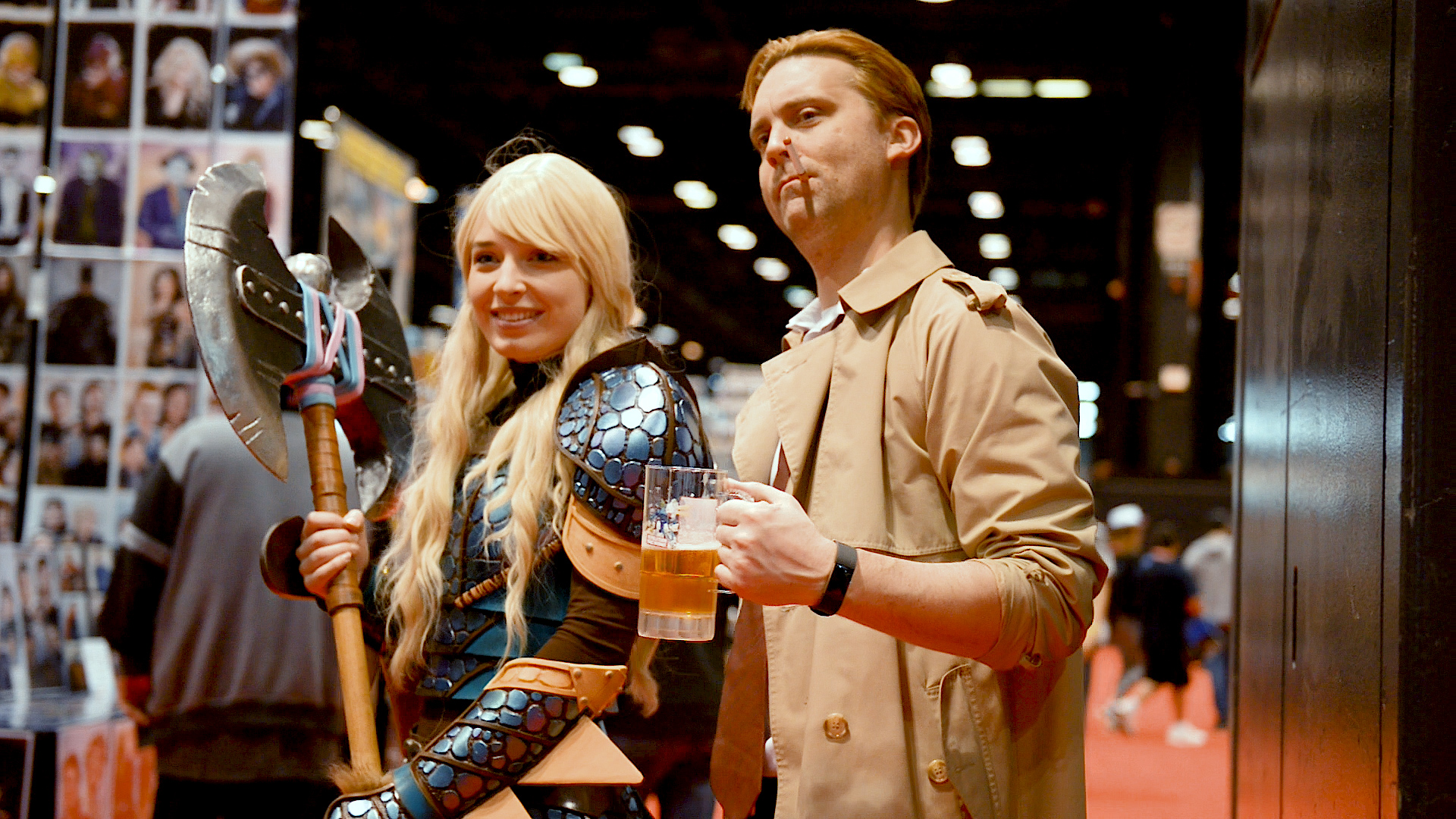 astrid and cosplayer at convention