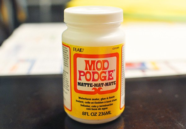 Bottle of Mod Podge used for cosplay