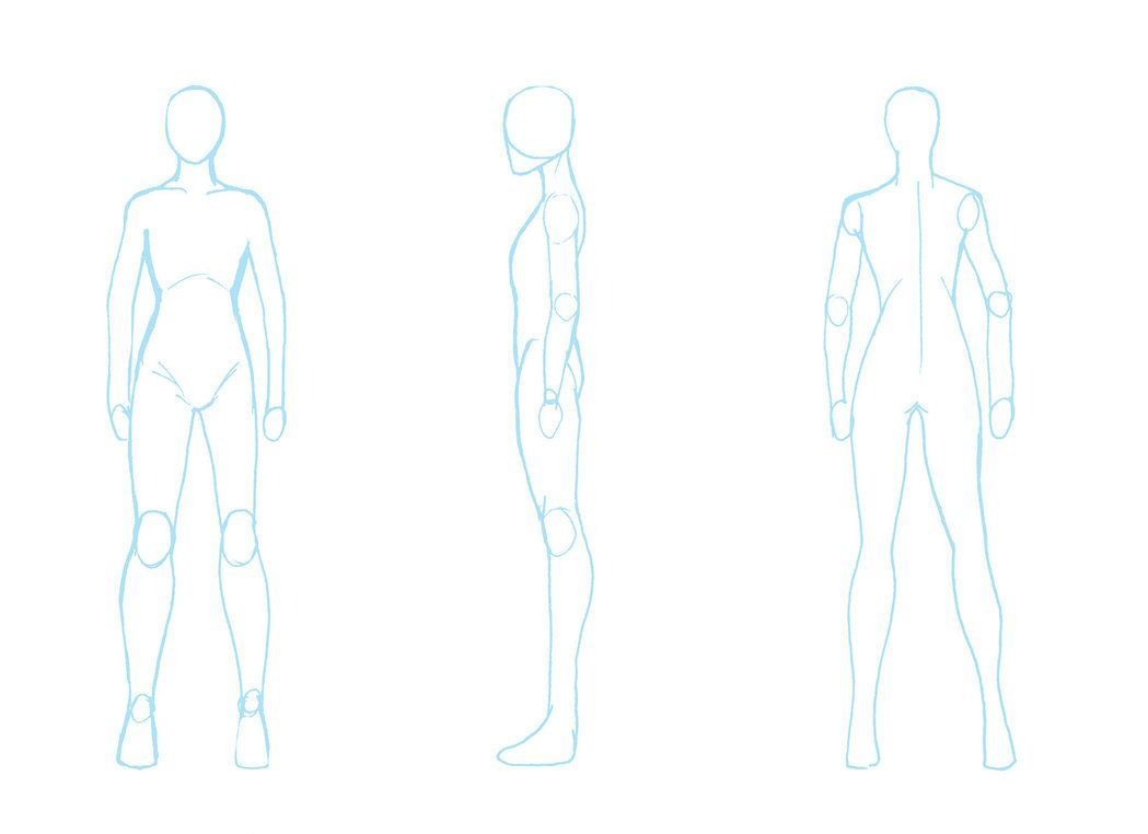 blank character template for cosplay