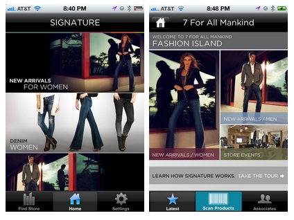 From Retailtouchpoints: Signature mobile app