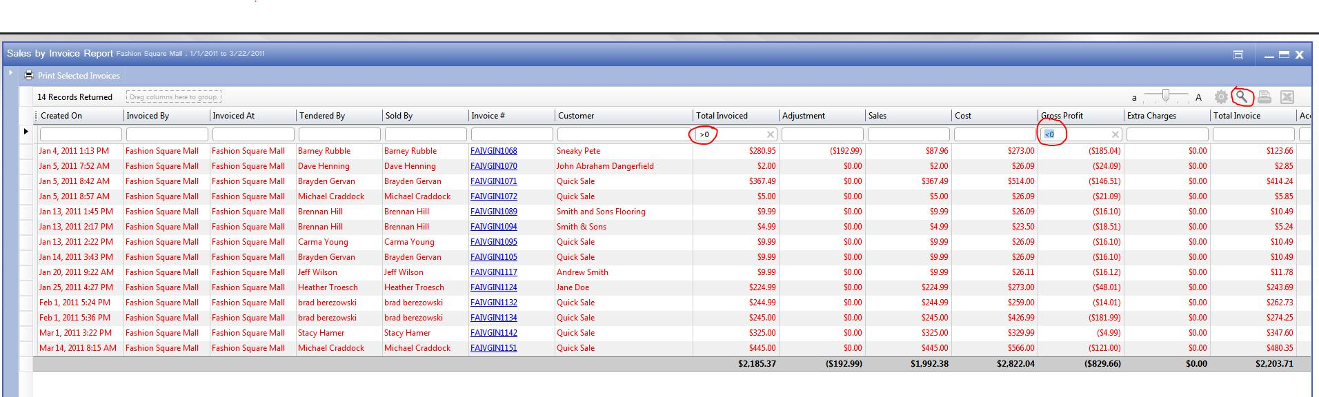 Invoices Made Easy Excel Rq Tips Report Filters Aynax Invoice Excel with Free Auto Repair Invoice Software The Example Below Shows How You Can Make The Sales By Invoice Report  Display Sales That Have A Positive Sales Amount And A Negative Profit  Indicating That  Can I Get A Receipt
