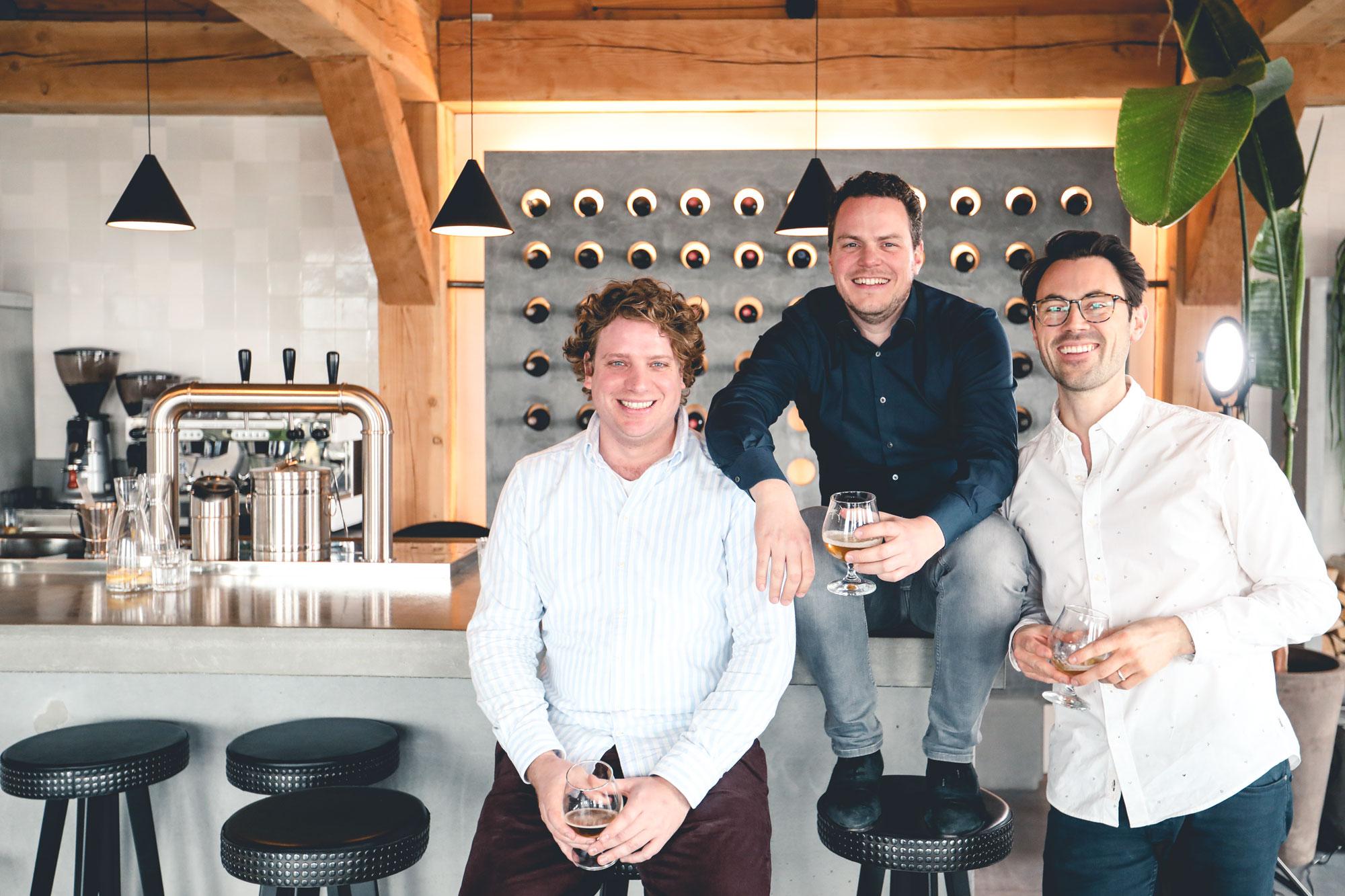Co-Founders Oaky: Tako Paddenburg, Lars Jonker & Erik Tengen