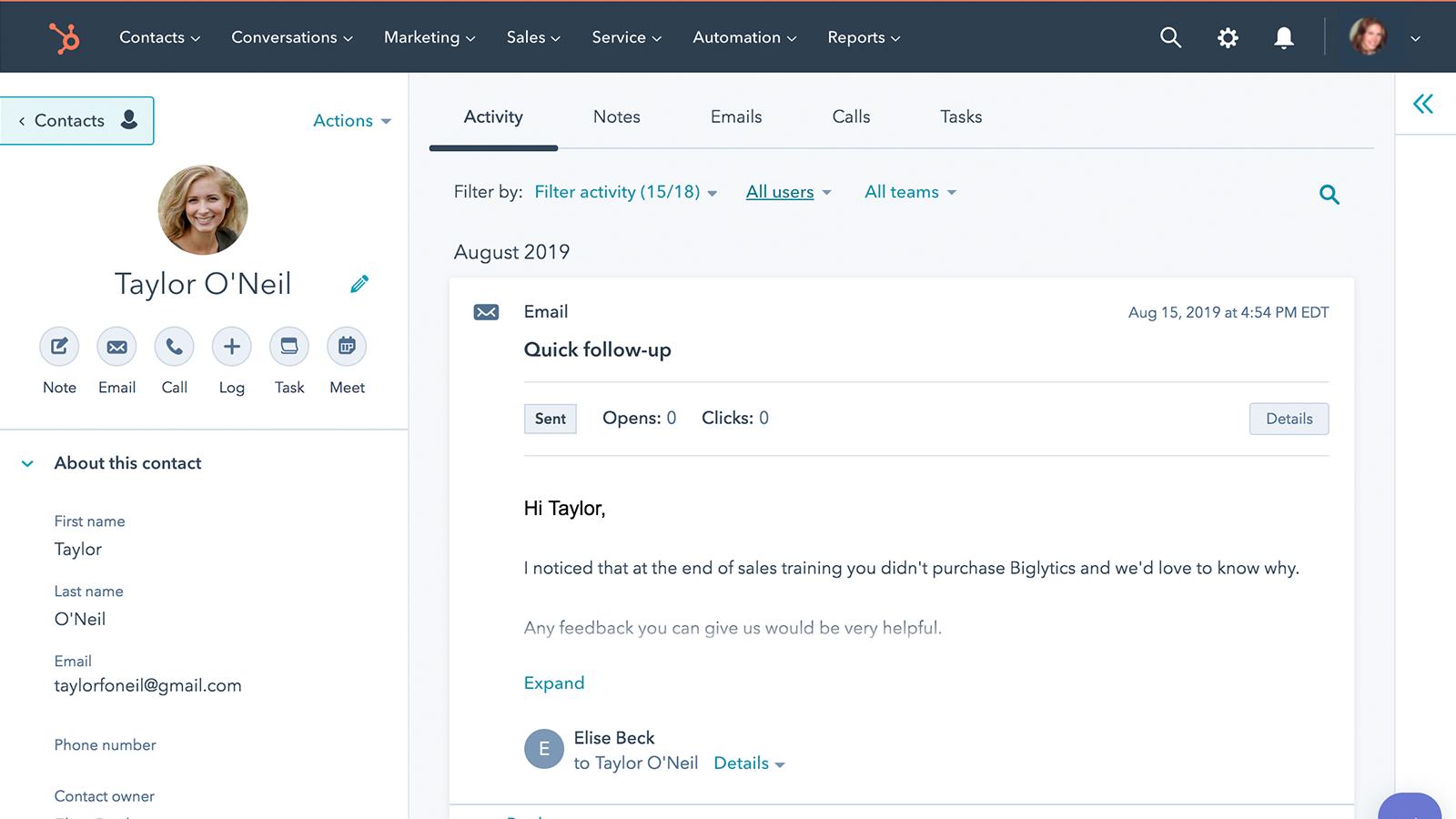 Outlook | HubSpot App Marketplace