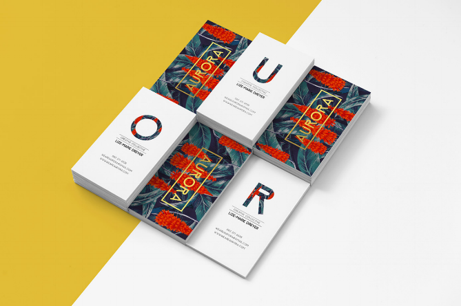 16 of the most creative business card designs from agencies aurora reheart Image collections