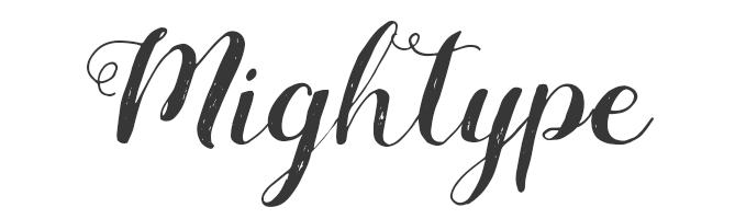 Mightype free script font