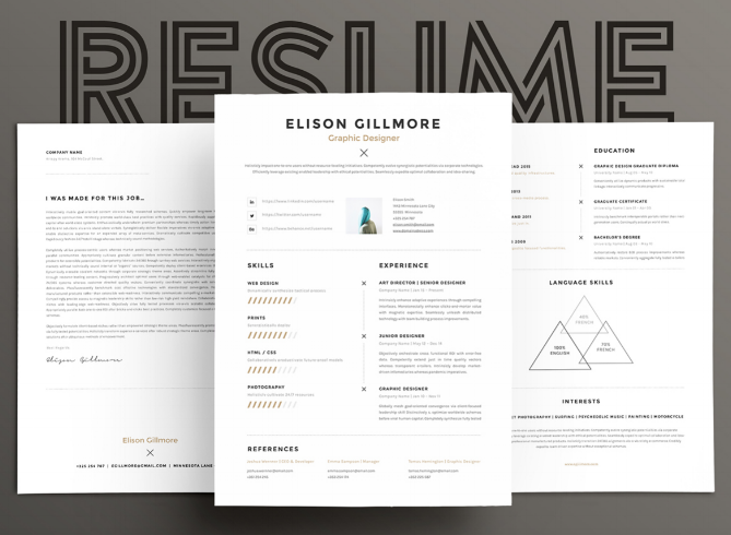 11 clean and modern resume template - Eye Catching Resume Templates