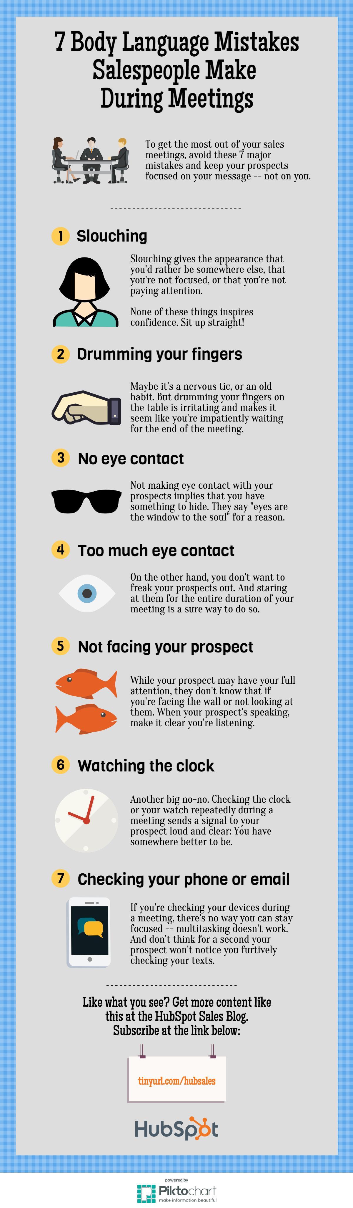 7 Cringeworthy Body Language Mistakes Salespeople Make During Meetings