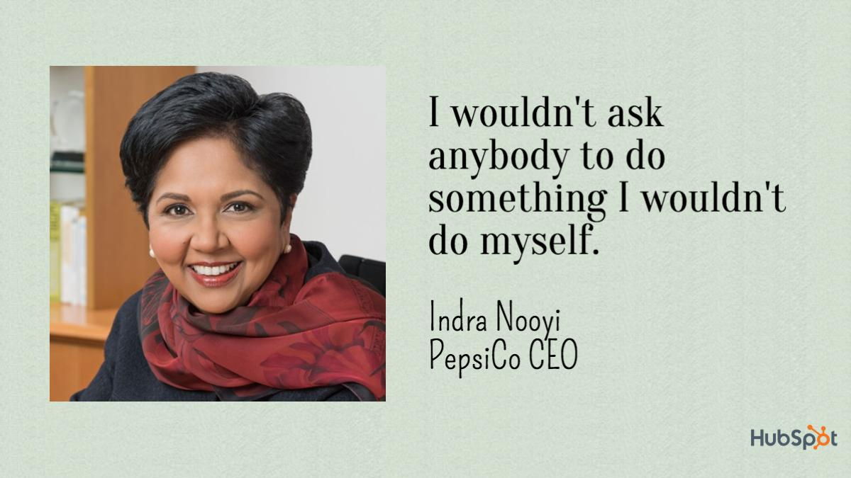 as a leader indra nooyi management essay It can also be used in a general management and strategy curriculum the case will help the students with: 1) presenting and discussing indra nooyi as a leader 2).
