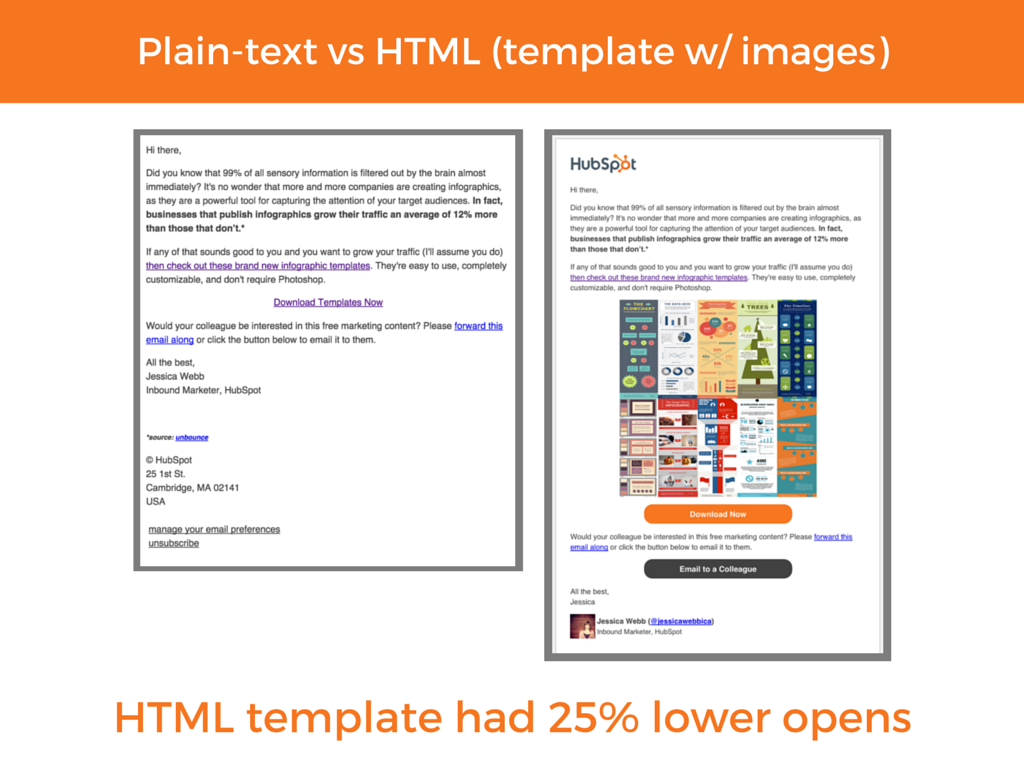 how to include plain text in html email