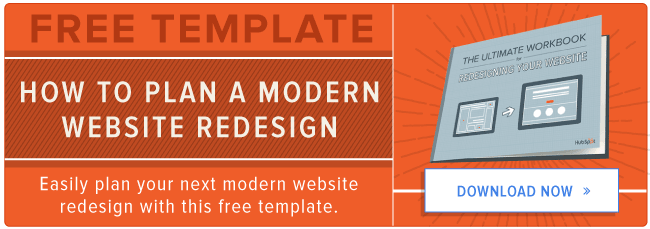 free template to plan your modern website redesign