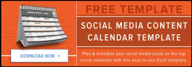 The Social Media Content Calendar Template Every Marketer Needs – Social Media Calendar Template