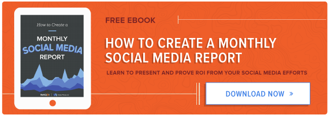 How To Create A Monthly Social Media Report Free Ebook - Social media report template