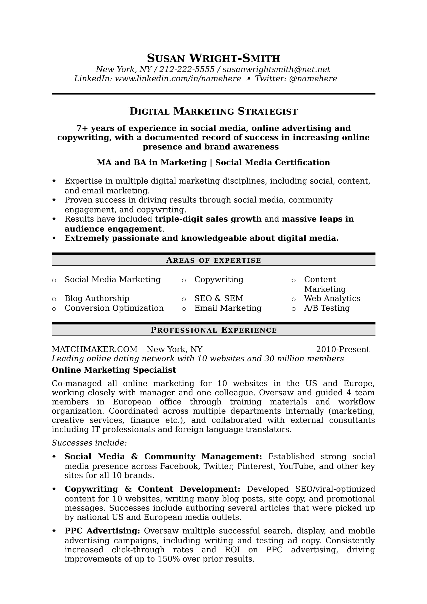 how to write a marketing resume hiring managers will notice digital strat 1 jpg